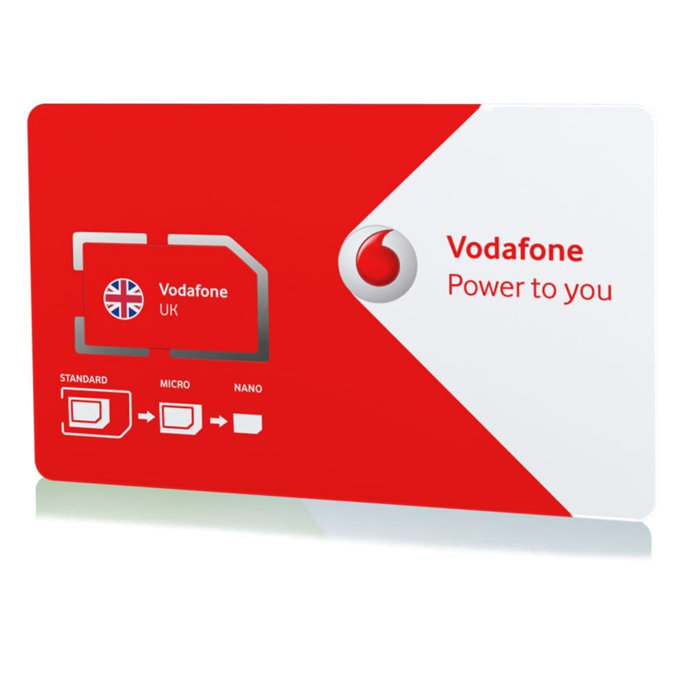 Vodafone 4G M2M 1GB Data SIM Card for UK £4 50 | M2M Taxi SIMs