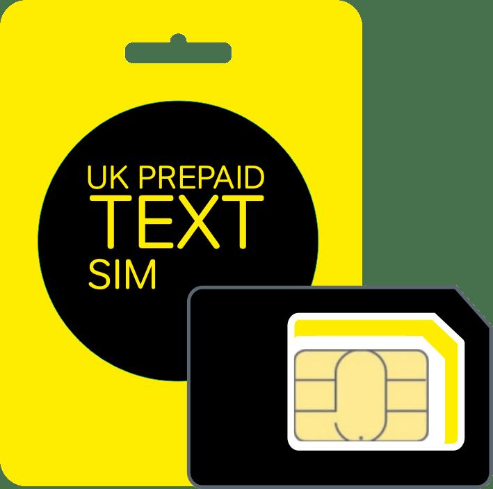 UK PrePaid Text SIM